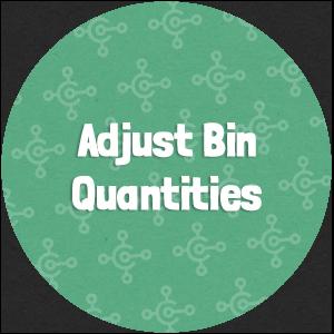 Adjust Bin Quantities