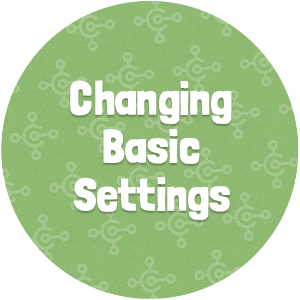 Changing Basic Settings Thumbnail