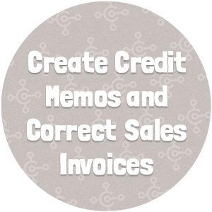 Create Credit Memos & Correct Sales Invoices