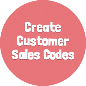 Create Customer Sales Codes