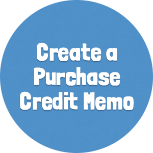 Create a Purchase Credit Memo
