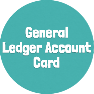 General Ledger Account Card