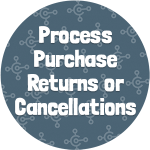 Process Purchase Returns or Cancellations