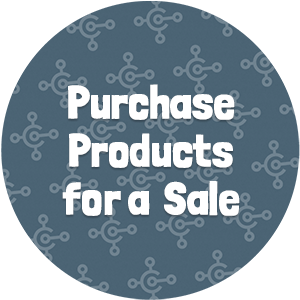 Purchase Products for a Sale