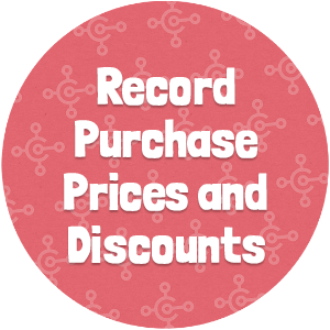 Record Purchase Prices and Discounts Thumbnail