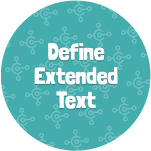 Define Extended Text
