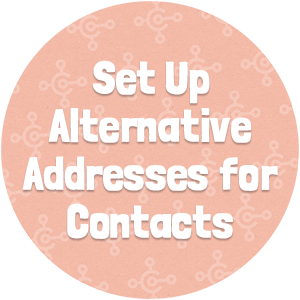 Set Up Alternative Addresses for Contacts