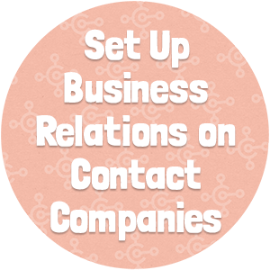 Set Up Business Relations on Contact Companies