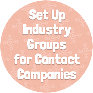 Set Up Industry Groups for Contact Companies