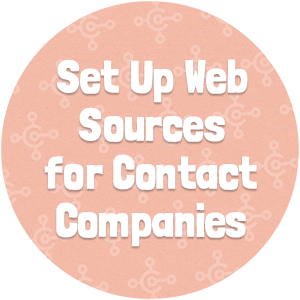 Set Up Web Sources for Contact Companies