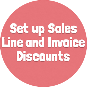 Set up Sales Line and Invoice Discounts2