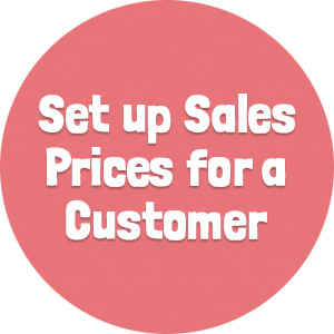 Set up Sales Prices for a Customer