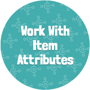 Work With Item Attributes